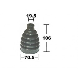 NISSAN MARCH K12 CV OUTER AXLE BOOT RUBBER