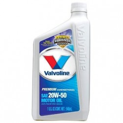 VALVOLINE PREMIUM PROTECTION 20W-50 ENGINE OIL QT