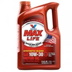 VALVOLINE MAX LIFE SYNTHETIC BLEND 10W30 ENGINE OIL GALLON 5L