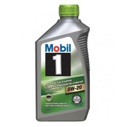 MOBIL 1 0W-20 ENGINE OIL QT
