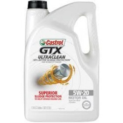 CASTROL 5W-20 GTX ULTRA CLEAN MOTOR OIL 5 QT GALLON