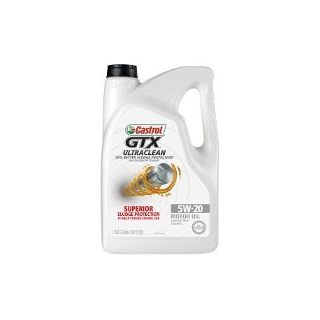 CASTROL GTX ULTRA CLEAN 5W20 MOTOR OIL GALLON