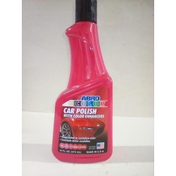 ABRO RED CAR POLISH 16 OZ.