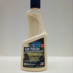 ABRO WHITE CAR POLISH 16 OZ.