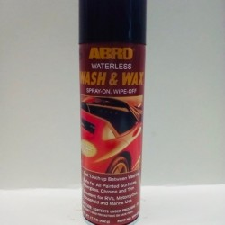 ABRO WATERLESS WASH & WAX SPRAY ON, WIPE OFF 17 OZ.