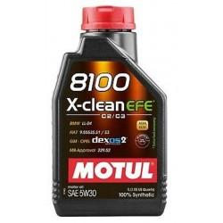 MOTUL 8100 X-CLEAN FE 5W-30 100% SYNTHETIC ENGINE OIL 1L