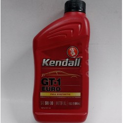 KENDALL GT-1 EURO FULLY SYNTHETIC SAE 5W-30 ENGINE OIL QUART