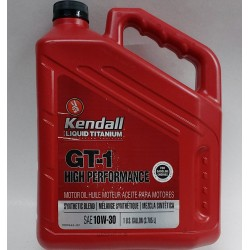 KENDALL 10W-30 GT-1 HIGH PERFORMANCE SYNTHETIC BLEND ENGINE OIL GALLON
