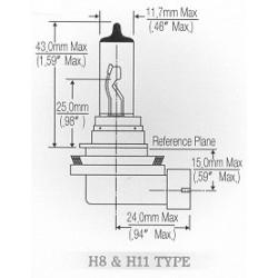 H11 BULB 55W